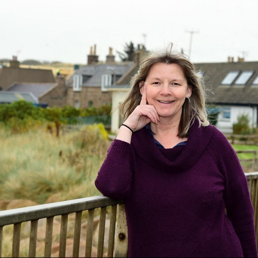 Jill Cantlay McWillam outside her home in Cruden Bay